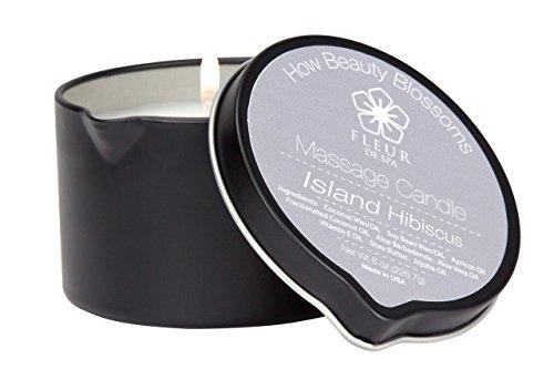 (fleur de spa Massage Candle Island Hibiscus Fragrance)
