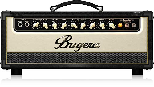 22w Tube Amplifier Guitar - BUGERA V22HD 22-Watt Vintage 2-Channel Amplifier Head with Infinium Tube Life Multiplier and Reverb Brown & Cream (V22HDINFINIUM)