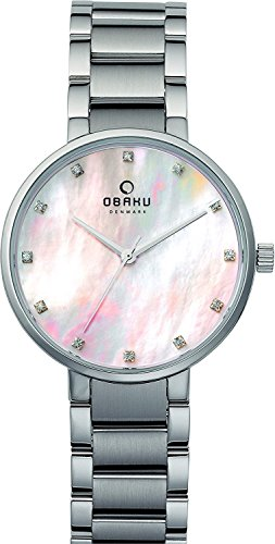 OBAKU watch 3 hands Stone index V189LXCPSC Ladies Watch