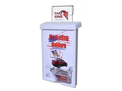 Marketing Holders Outdoor Vehicle Brochure Flyer 9x11 with Card Box Holder (1, White Lid)