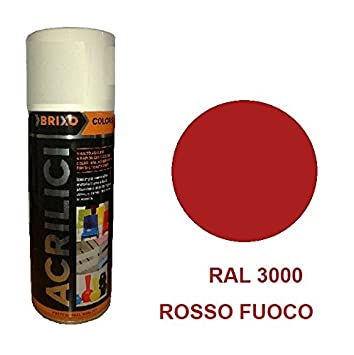 Bomboletta Spray Arancio RAL 2002 400ml Vernice Rapida Essiccazzione Acrilica Multimateriale Interno/Esterno Brixo FRASCHETTI