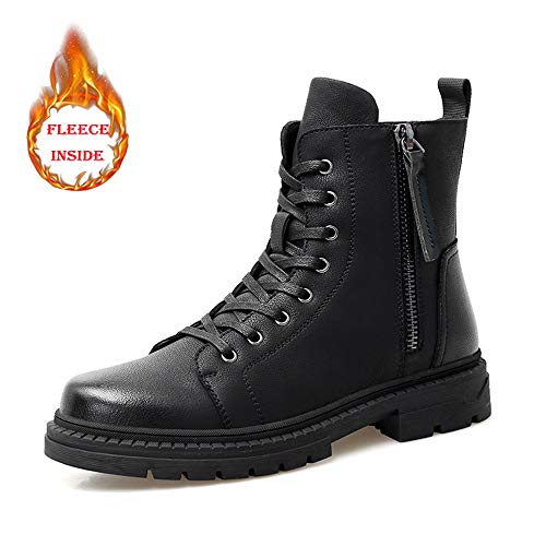 Opzionale 40 Eu Stivali Top 2018 Uomo Inverno Dimensione Moda Personalità Comodo convenzionale Black Fleece All'interno Casual Da Warm Color High Zipper Boot ZZwSRqA