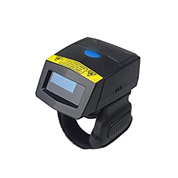Image of 1D Bluetooth Finger Scanner, Mini Rugged FS01 Ring Barcode Reader with Metal Case, IP64 Compatible Android iOS PC for Warehouse, Healthcare, Library Bar Code Scanners
