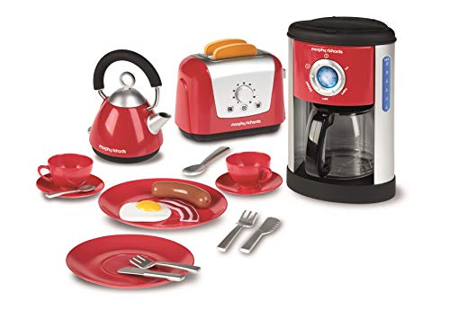 Casdon Morphy Richards Kitchen Set Toy - Kettle, Toaster and Coffee - Coffee Maker Play Set