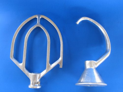 10 Quart Dough hook and flat beater for Hobart c100 mixer by Butcher-Baker