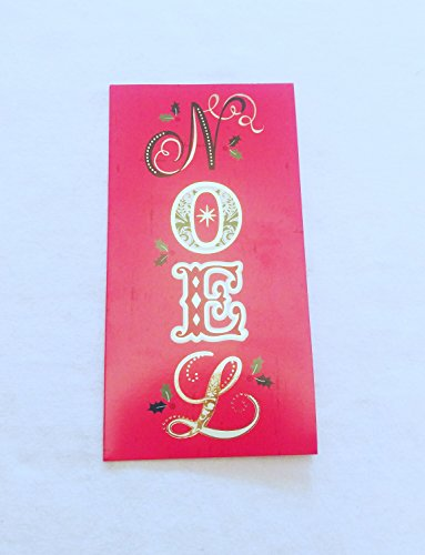 Christmas Money or Gift Card Holder Cards - Set of 8 with Metallic/Glitter Accents (Noel)
