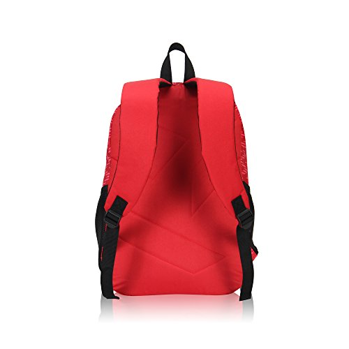 Veegul Cool Backpack Kids Sturdy Schoolbags Back to School Backpack for Boys Girls,Red by Veegul (Image #2)