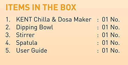 Open-Box & Refurbished (Unused) Kent 16008 900-Watt Chilla Dosa Maker (Red) kida.in