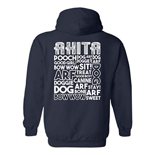 BigCrab Things About Akita Hoodie, Hooded Sweatshirt, Clothes Navy,M ()