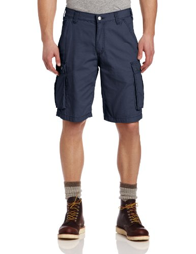 Carhartt Men's Rugged Cargo Short Relaxed Fit,Bluestone (Cotton Canvas Work Shorts)