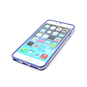 Bumper Frame Case Cover For Apple iPhone 6 Plus - Clear Purple