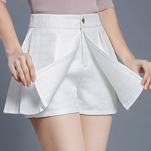 Grande Blanc Short Mini Jupe FS553 Plisse Taille DISSA Club q681XnIw