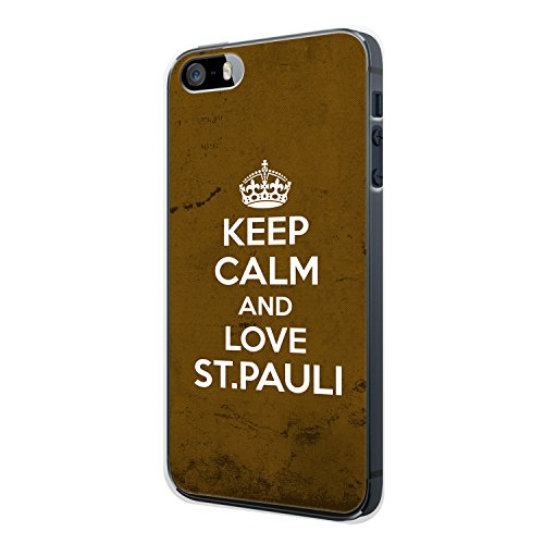 Keep Calm And Love St. Pauli iPhone 5 / 5S Hülle Cover Case Schale Deutschland Stadt City Design