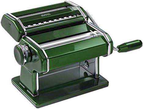 パスタマシン メイク新鮮なスパゲッティまたはフェットゥチーネパスタマシンハンドクランクパスタローラーマシンのマニュアル麺メーカーパーフェクト キッチンで麺を作るために (Color : Green, Size : Free size)