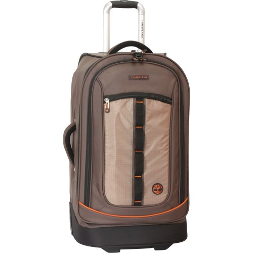 Timberland Wheeled Duffle Bag - 26 Inch Lightweight Rolling Luggage Travel Bag Suitcase for Men, Cocoa brown