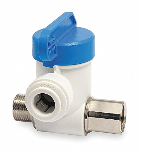 - John Guest Polypropylene/Nickel Brass Male Compression x Female Compression Stop Valve Adapter, 3/8