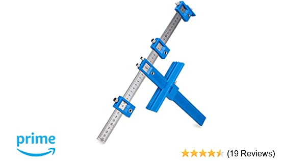Power Tools Punch Locator, Drill Guide Sleeve Cabinet Hardware Jig,Template  Wood Drilling Dowelling for Installation of Handles, Knobs on Doors and
