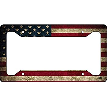 f004f4c0a59 Rogue River Tactical Rustic USA Flag License Plate Frame Novelty Auto Car  Tag Vanity Gift American Patriotic US