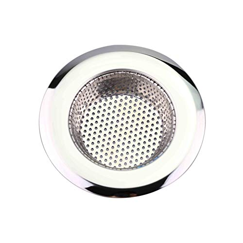 millet16zjh Sink Strainer,Kitchen Bathroom Sink Sewer Strainer Filter Net Floor Drain Stopper Bath Catcher Silver S ()