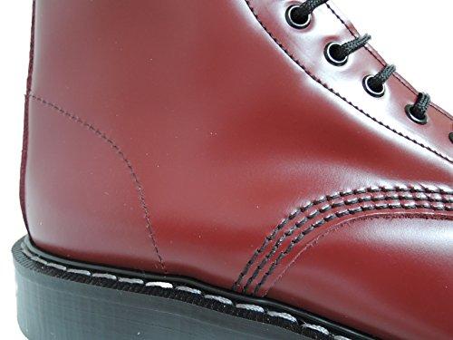 Solovair Nps Herenhand Vervaardigd In Engeland 20 Oog Kersenrode Stalen Neuslaarzen