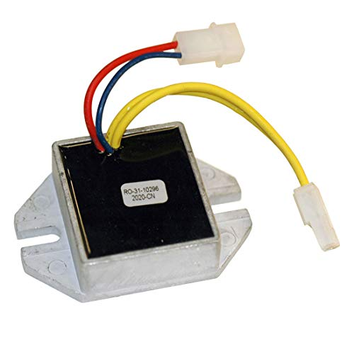 HZYCKJ Motor Voltage Regulator Rectifier Compatible for Briggs & Stratton 8-20HP Engines w/Dual 16A Output OEM # 493219 ()