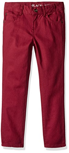 The Children's Place Big Boys' Rugged Herringbone Pant, Rubine, 14 Image