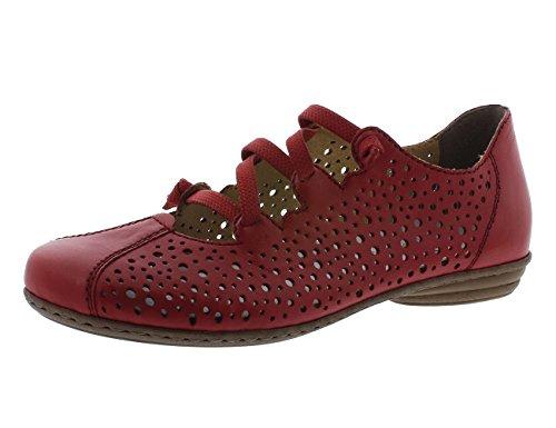 Rieker 53975, Bailarinas para Mujer Rojo (Rosso)