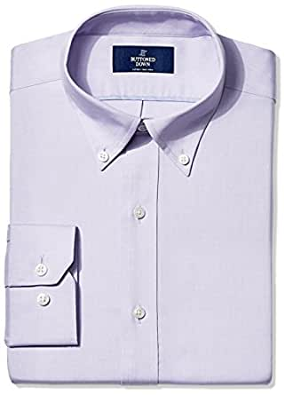 "Buttoned Down Men's Fitted Button-Collar Non-Iron Dress Shirt, Purple, 14.5"" Neck 32"" Sleeve"