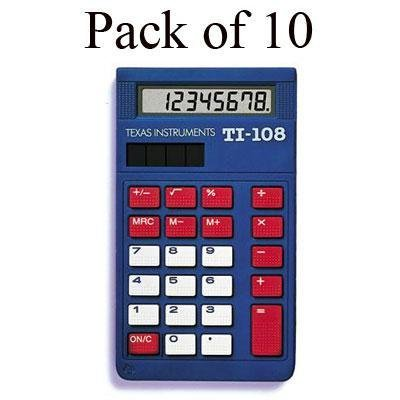 Texas Instruments TI-108 Class Set Calculator for K4, Large keys, Sol