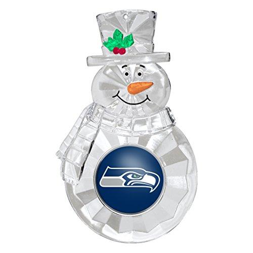 NFL Seattle Seahawks Traditional Snowman Ornament Nfl Football Snowman Ornament