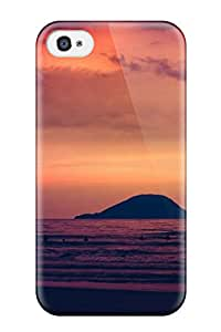 For Iphone Case, High Quality Sunset Sea Digital For Iphone 4/4s Cover Cases Sending Free Screen Protector