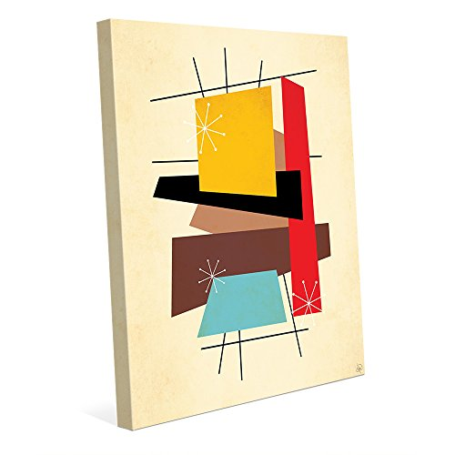 Retro Thoughts VI: Mid-Century Retro Modern Postmodern Geometric Shapes Abstract Painting Drawing Illustration Wall Art Print 41qAi0yokgL