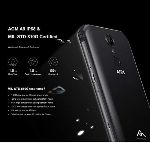 AGM A9 Android 8.1 Rugged Smartphone 4GB+64GB Octa Core 5,99 Inch ...