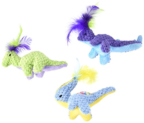 Pet Zone Dino-Friends Cat Toys (3 Pack) Friends Cat Toy