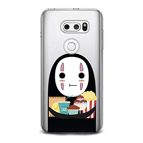 Lex Altern TPU Case for LG G8 Stylo 5 K11 G7 ThinQ G6 V40 V35 V50 K8 No Face Print Clear Cartoon Design Anime Soft Boy Cover Woman Flexible Gift Spirited Away Smooth Food Lightweight Kawaii Slim fit -