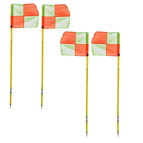 Precision 4 x Spring Loaded Corner Poles with Set of 4 Corner Flags /& Carry Bag