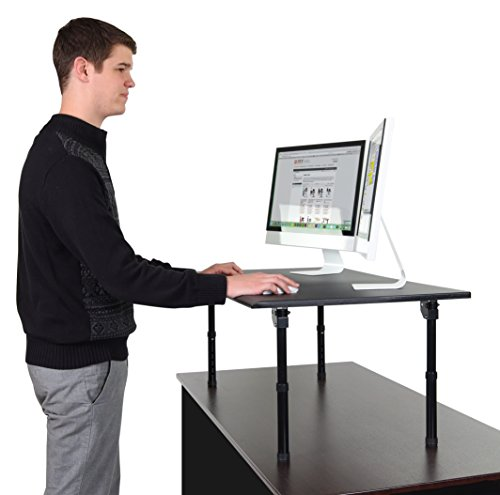 "Adjustable Height Standing Desk – Convert your desk to a standing desk (Desk Length: 42"" Fold)"