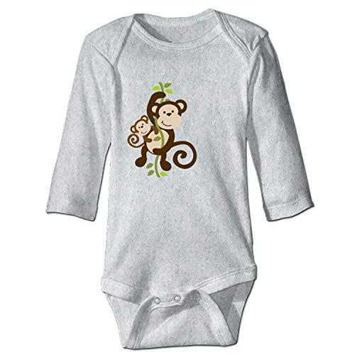 Wintersunny Newborn Baby Onesie Mommy Clipart Baby Monkey Print Romper ()