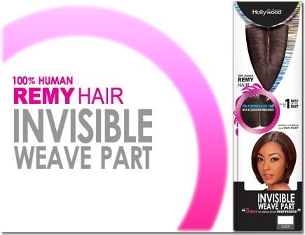 Invisible Weave Part - Hollywood 100% Human Remy Hair Closure (1B-OFF -