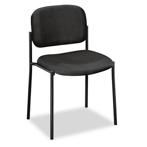 Basyx VL606VA10 VL606 Series Stacking Armless Guest Chair, Black Fabric by Miller Supply Inc
