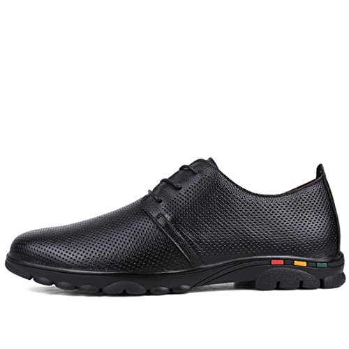 Minitoo Boys Mens Breathable Lace-Up Summer Fashion Sneaker Black