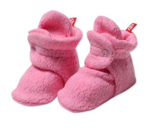 (Zutano Unisex Baby Cozie Fleece Bootie, Hot Pink, 6 Months)