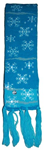 Gilbin Christmas Holiday Led Light Up Pom-Pom Knit Snowflakes Scarf