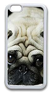 iPhone 6 4.7inch Case Cute Little Pug TPU Custom iPhone 6 4.7inch Case Cover Whtie