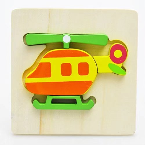 6PCS Cute Animal/Cars/Airplane Wooden Jigsaw Puzzle Board. Brain Development Educational Toys with Storage Board