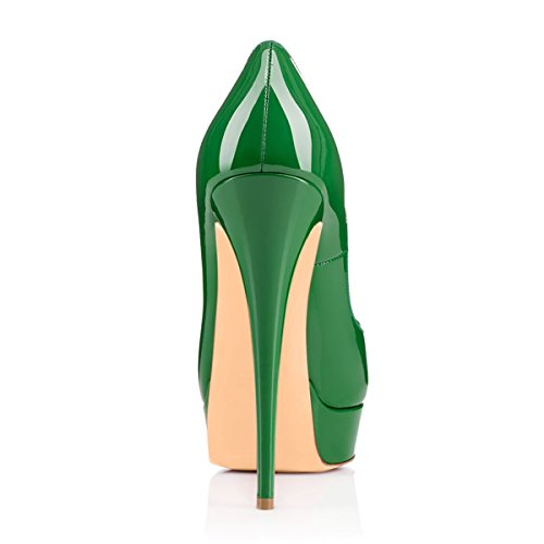 High Onlymaker Slip Toe Handmade Women's Gr¨¹N On Shoes Peep Party Wedding Fashion For Dress Pumps Extreme Stiletto w0XEOnx0
