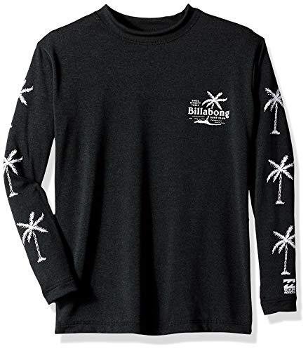 Billabong Boys' Surf Club Loose Fit Long Sleeve Rashguard Black Heather 12