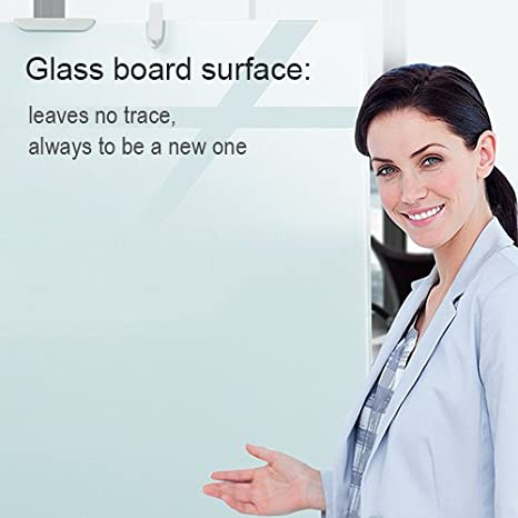 Glass Board - 36 x 24 Magnetic Dry Erase Board w/Adjustable