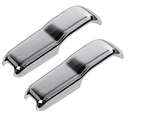 Nicebee 2pcs/Set ABS Car Engine Hood Hinge Cover Decoration Trim Cover Compatible for Jeep Wrangler 2018+ (Chrome)