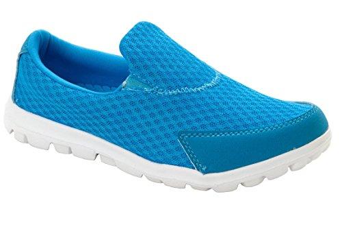 Azul ligeras deporte informales soporte de Zapatillas gimnasio cordones de sin buen 1SvSwq